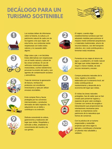 Decalogo turismo sostenible - Fundación iO-viajarseguro