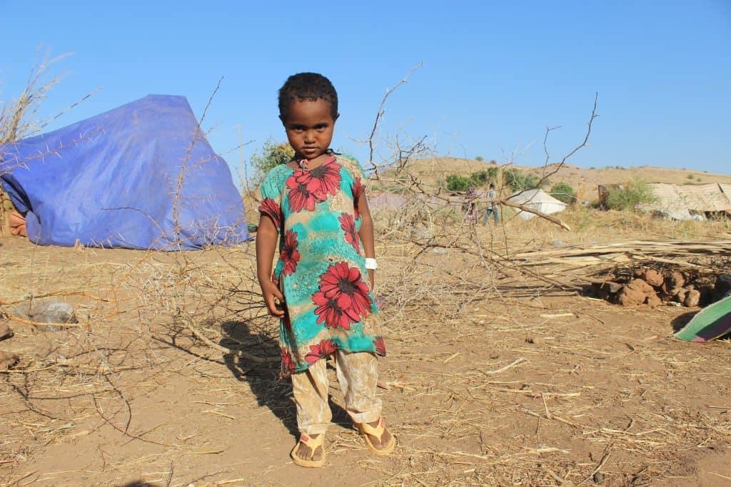 Niña etíope en el campo de refugiados Um-Rakoba en Gedarif, Sudán. Noviembre 2020. © ISLAMIC RELIEF